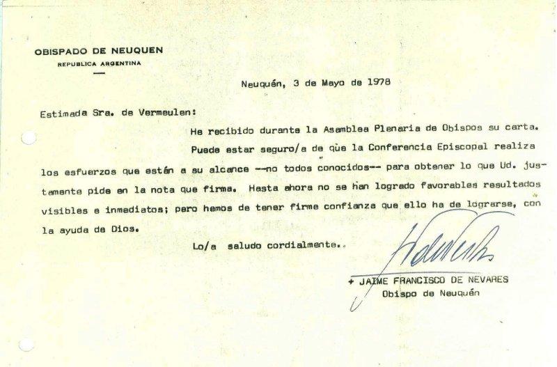 Respuesta de Jaime de Nevares