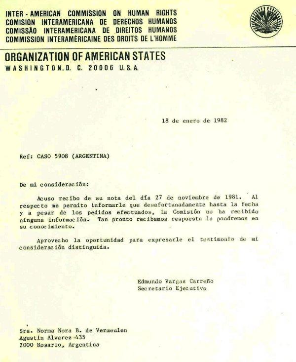 Respuesta OEA 1982